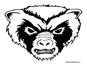 Badger Coloring Page 2