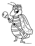 Bee Coloring Page 1