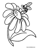 Bee Coloring Page 3