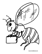 Bee Coloring Page 8