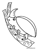 Beetle Coloring Page 4