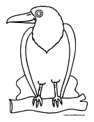 Bird Coloring Page 4