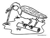 Bird Coloring Page 9