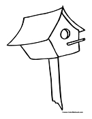 Birdhouse Coloring Page 16