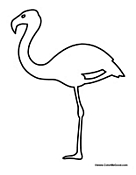 Flamingo Outline Drawings Flamingo Outline