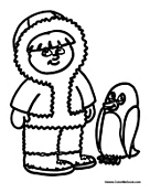 Penguin and Eskimo