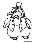 Penguin in Suit Coat