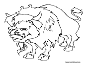 Buffal Coloring Page 1