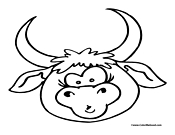 Bull Coloring Page 2