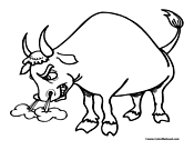 Bull Coloring Page 3