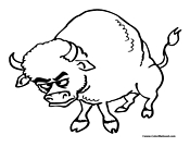 Bull Coloring Page 4