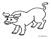 Bull Coloring Page 6