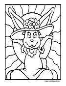 Bunny Coloring Page 5