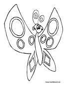 Butterfly Coloring Page 1