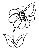 Butterfly Coloring Page 4