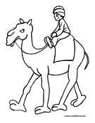 Camel Coloring Page 6