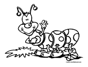 Caterpillar Coloring Page 3