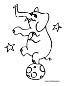 Circus Animal Coloring Page 1