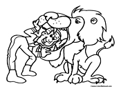 Circus Lion Coloring Page 10