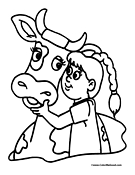 Cow Coloring Page 1