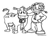 Cow Coloring Page 4