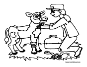 Cow Coloring Page 5