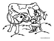 Cow Coloring Page 6