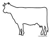 Basic Cow Outline Picture