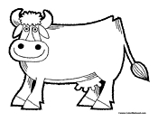 Cow Coloring Page 9