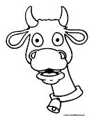 Cow Head Coloring Page 10