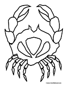Crab Coloring Page 1