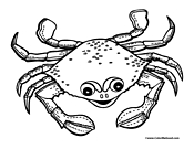 Crab Coloring Page 2