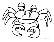 Crab Coloring Page 8