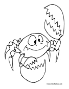 Cartoon Crab Coloring Page