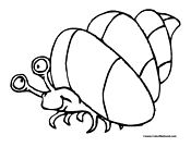Crab in Shello Coloring Page