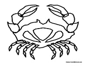 Crab Outline