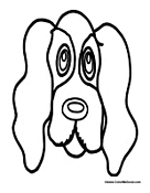 Dog coloring pages for Dog face coloring page
