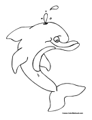 Dolphin Coloring Page 6