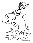 Dolphin Coloring Page 8