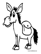 Donkey Coloring Page 1