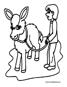 Donkey Coloring Page 2