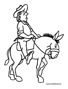 Donkey Coloring Page 4