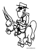 Donkey Coloring Page 5