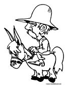 Donkey Coloring Page 7
