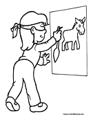 Donkey Coloring Page 9