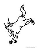 Donkey Coloring Page 10