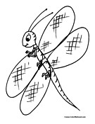 Dragonfly Coloring Page 6