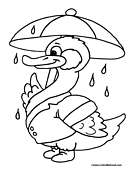 Duck Coloring Page 2