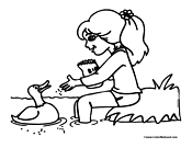 Duck Coloring Page 6