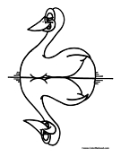 Duck Coloring Page 7